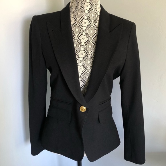 Smythe les vestes eluxe black wool blazer